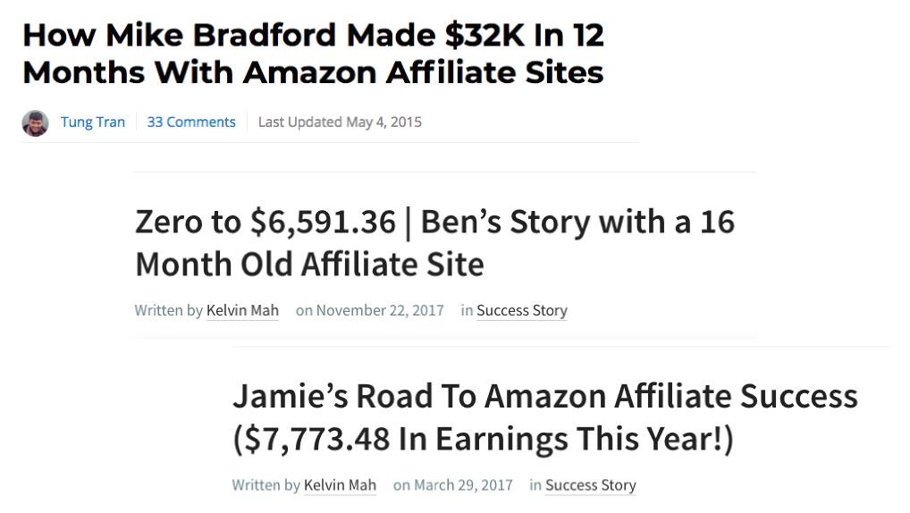 Amazon Affiliate Success Stories