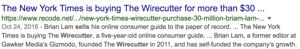 The Wirecutter Sold to NewYork Times