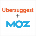 Ubersuggest and Moz Logo